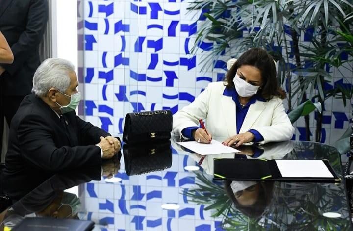 No Senado, Eliane Nogueira prometeu se dedicar aos menos favorecidos - Agência Senado