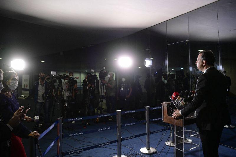 Trabalho da imprensa foi considerado essencial em decreto de Jair Bolsonaro - (Foto: Pedro França/Agência Senado - 08.04.2021)