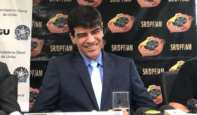 O ex-superintendente da PF no Amazonas, delegado Alexandre Saraiva - (Foto: Reprodução)