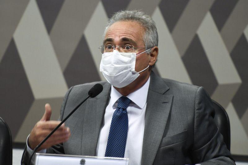Senador Renan Calheiros (MDB-AL) é o relator da CPI da Covid - (Foto: Edilson Rodrigues/Agência Senado - 29.04.2021)