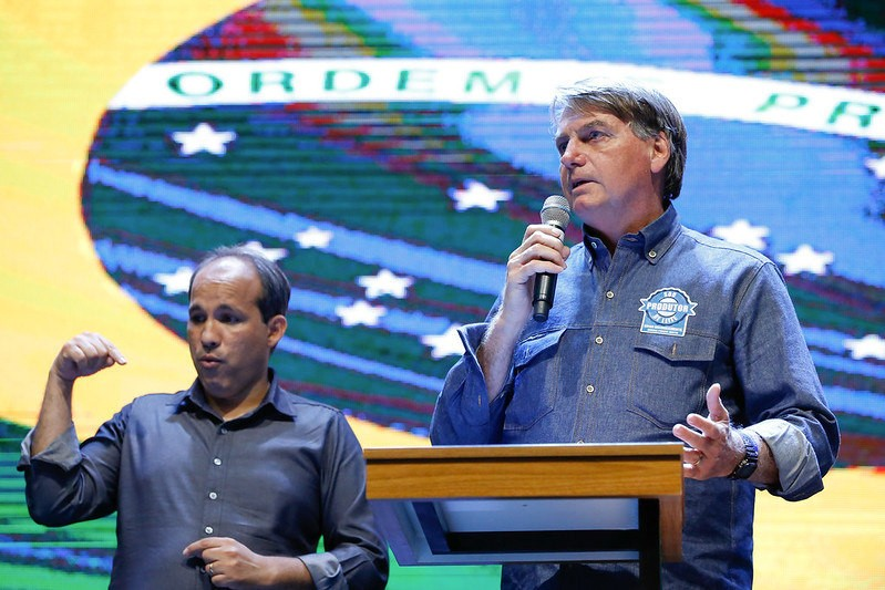 Bolsonaro participou de culto interdenominacional das Igrejas de Anápolis (GO) - (Foto: Alan Santos/PR - 09.06.2021)