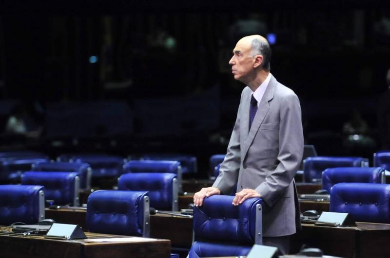 Marco Maciel no Plenário do Senado, durante seu último mandato como senador, que se encerrou em 2011 - Agência Senado